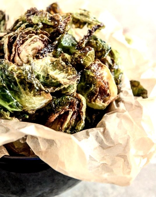 Fried Brussels Sprouts with Smoky Honey Aioli Sauce