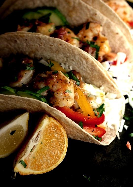Rosemary Citrus Shrimp Tacoswith recipe (link)